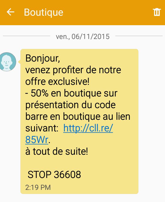 Exemple de Rich SMS
